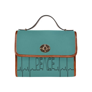 "FOX PRODUCTS- Waterproof Canvas Bag ""Peace"" (All Over Print) (Model 1641)"