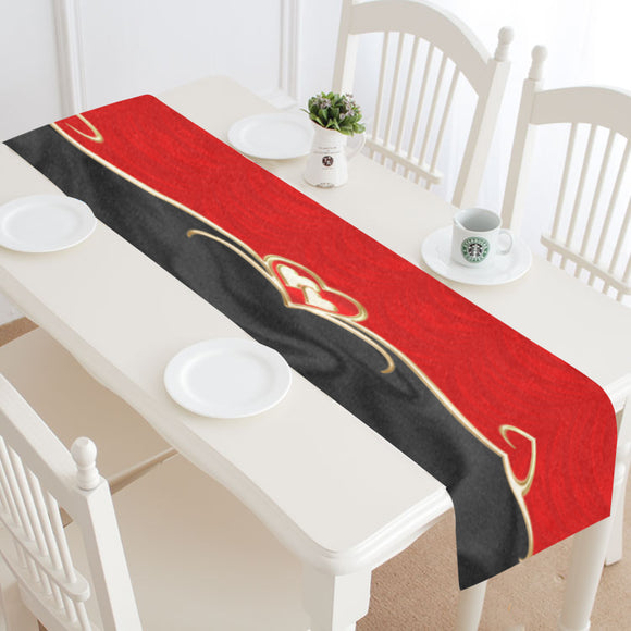 Table Runner Golden Hearts 16
