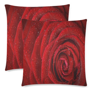 "Throw Pillow Cover Rosa 18"" x 18"" (Twin Sides) (Set of 2)"