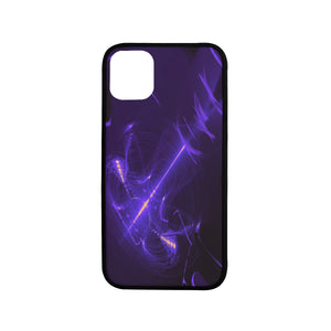 "FOX PRODUCTS- Laser Style Rubber Case For Iphone 11 (6.1"") Purple Strike"