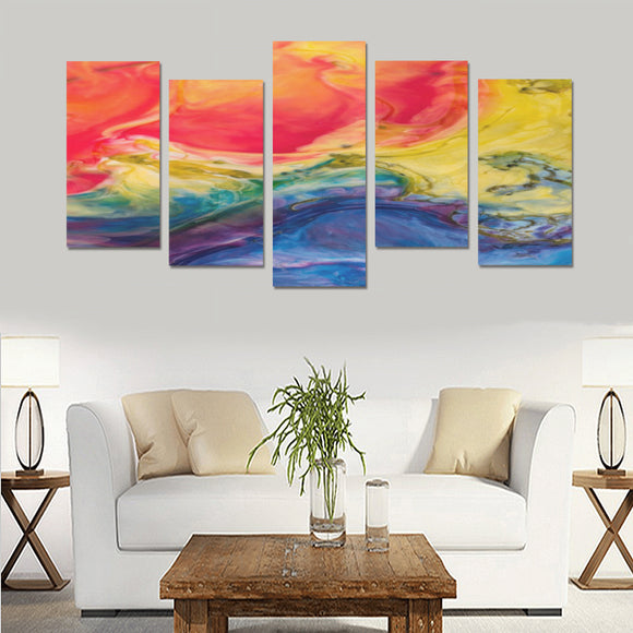 FOX PRODUCTS- Canvas Wall Art Prints (No Frame) 5-Pieces/Set F A Splash Of Color