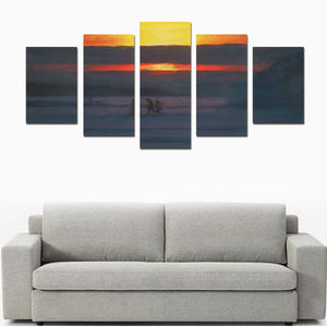FOX PRODUCTS- Canvas Wall Art Prints (No Frame) The Walk 5-Pieces/Set D