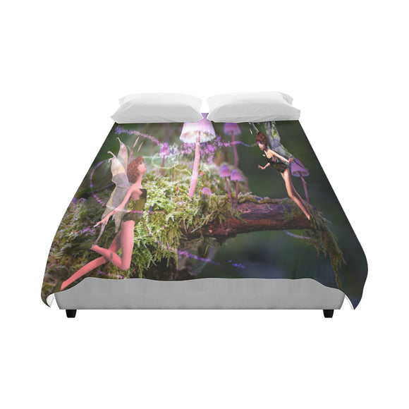Duvet Cover Magic Mushroom Fairies (86