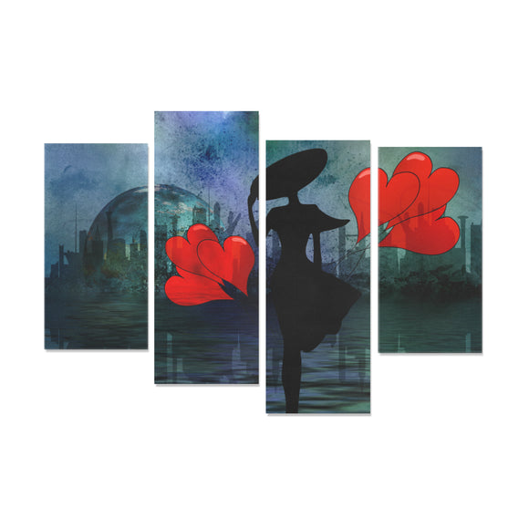 Framed Canvas Art Prints City Lover (3 & 4 Pieces) (Made in USA)