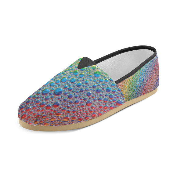 Canvas Slip On Rainbow Drops Shoe- Women
