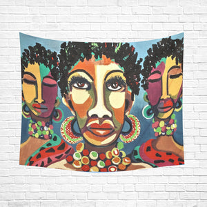 "Wall Tapestry African Women 60""x 51"""