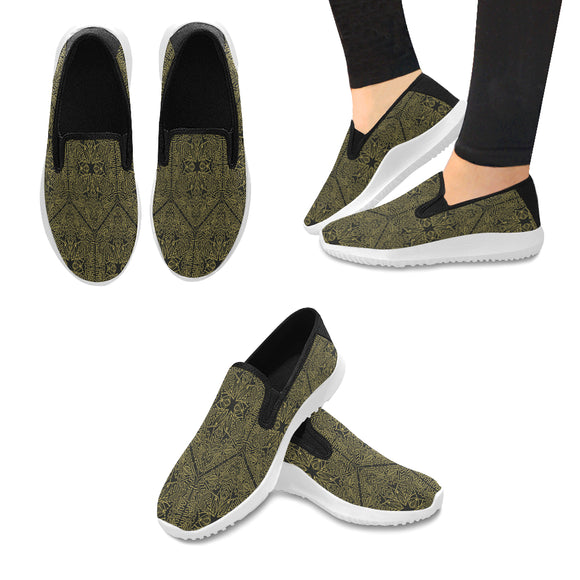 Orion Slip-on Canvas Women's Mandala Ornament Sneakers (Model042)