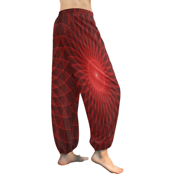Harem Red Mandala Women's Pants (Model L18)