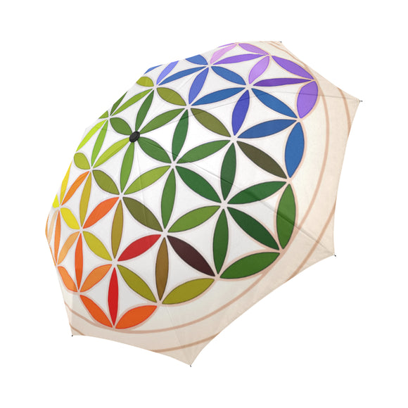 Anti-UV Automatic Mandala Rainbow Umbrella