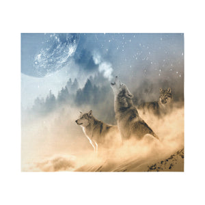 "FOX PRODUCTS- Wall Tapestry 60""x 51"" The Wolf Pack"