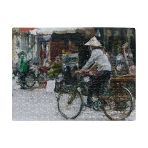 FOX PRODUCTS- Rectangle Jigsaw Puzzle A Bike Ride In China (A3 Size)(252 Pieces)