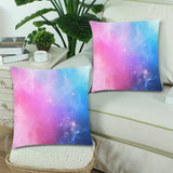 "FOX PRODUCTS- Throw Pillow Cover 18""x 18"" (Twin Sides) (Set of 2) Pixel Galaxy"