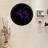 FOX PRODUCTS- Boys Celebrating Elegant Black Wall Clock Fractal Flame