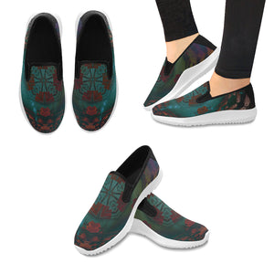 Orion Slip-on Canvas Women's Geometric Sneakers (Model042)