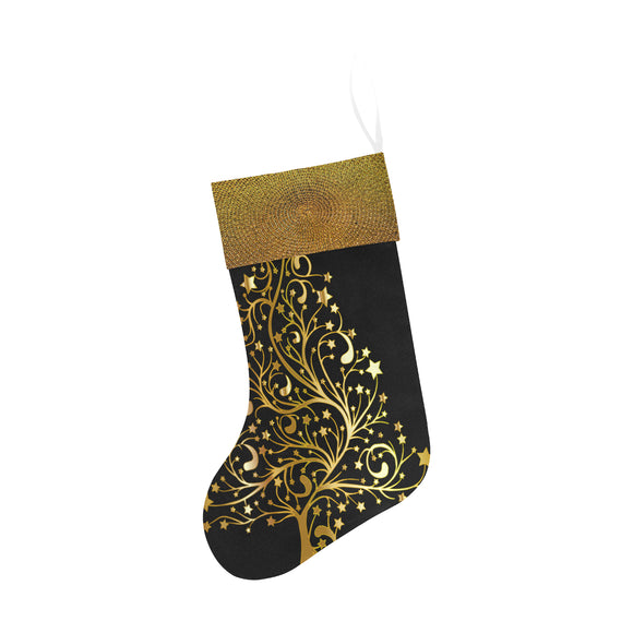 Christmas Stocking Elegant Gold Tree