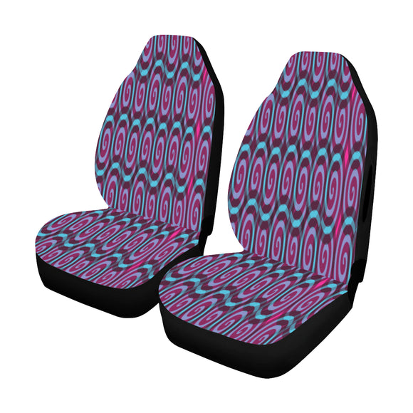 Car Seat Cover Lolly Swirl Airbag Compatible (Set of 2)