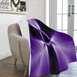 "FOX PRODUCTS- Ultra-Soft Micro Fleece Blanket 60"" x 80"" The Purple Attack"