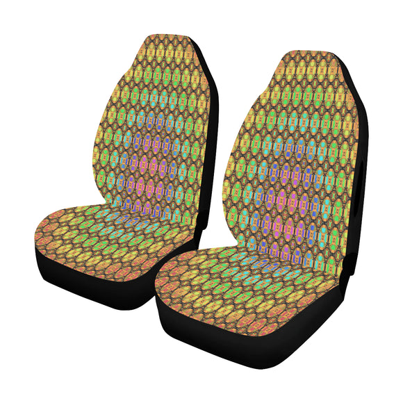 Car Seat Cover Rainbow Tile Airbag Compatible (Set of 2)