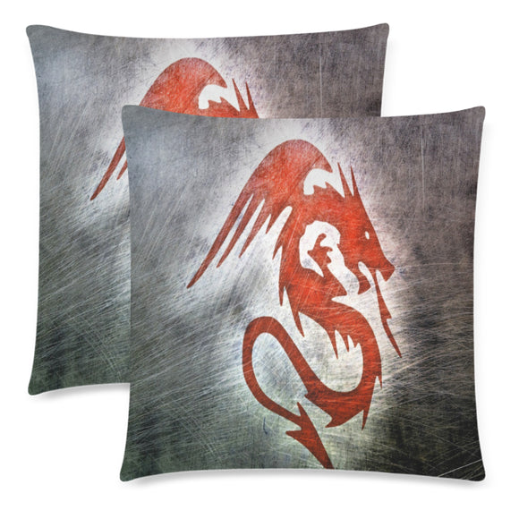 Throw Pillow Cover Red Dragon 18