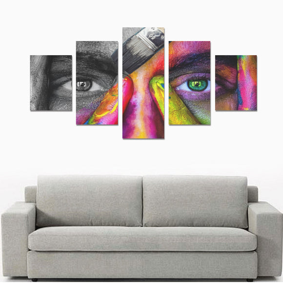 FOX PRODUCTS- Canvas Wall Art Prints (No Frame) 5-Pieces/Set B Cover Of color