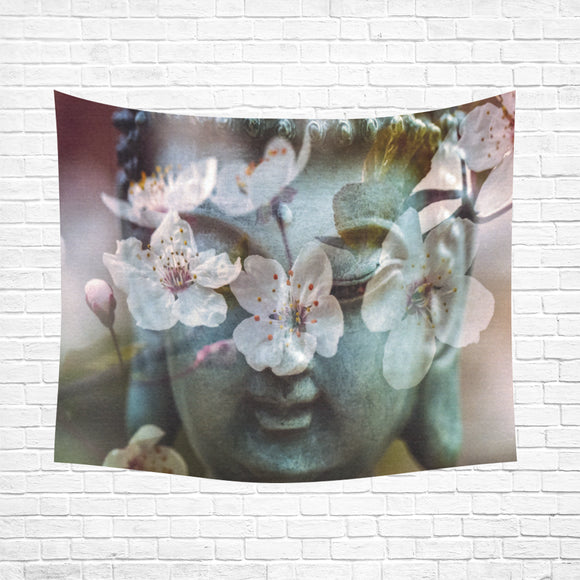 Wall Tapestry Buddha Flowers 60