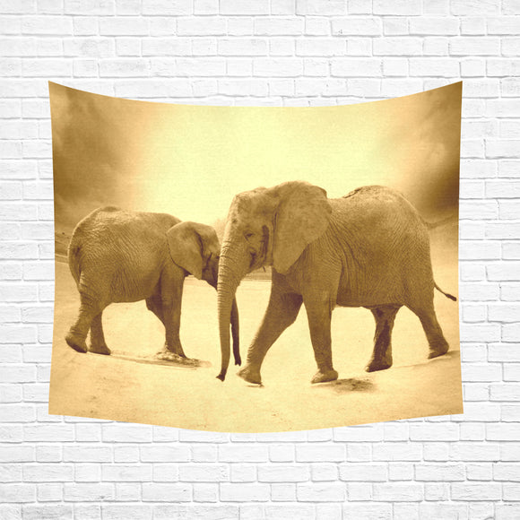 Wall Tapestry Elephants 60