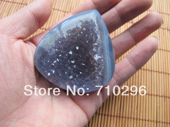 Amazing Natural Agat e Geode drusy Supper large drusy Geodes 60mm,High quality,Limtied Samples
