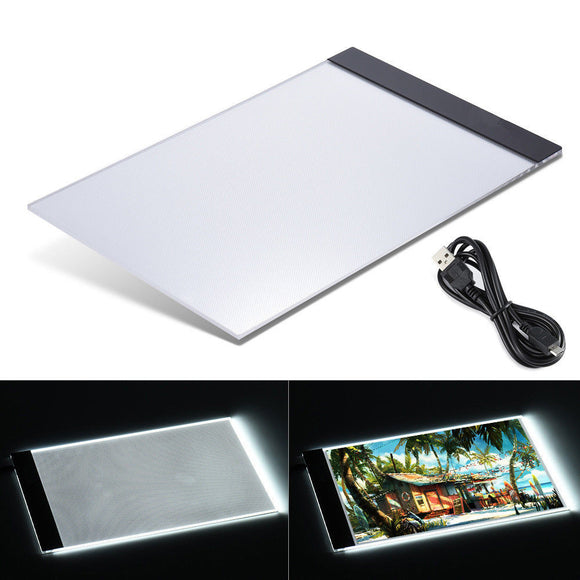 A4 LED Artcraft Tracing Light Pad USB Copy Board Tracer Portable Artists Drawing