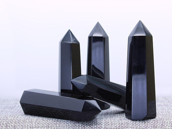 Black obsidian 1kg Natural Crystal Point Wand Tower single point Crystal Obelisk Healing Crystal gemstone whloesale