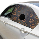 Pet Dogs Car Window Sun Shade Cover-Paw Prints (3 colors)