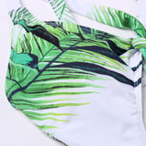Tropical High Leg Knotted Front Cutout Brazilian One Piece Swimsuit