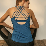 Basic Cross Strappy Brazilian Workout Tank Top