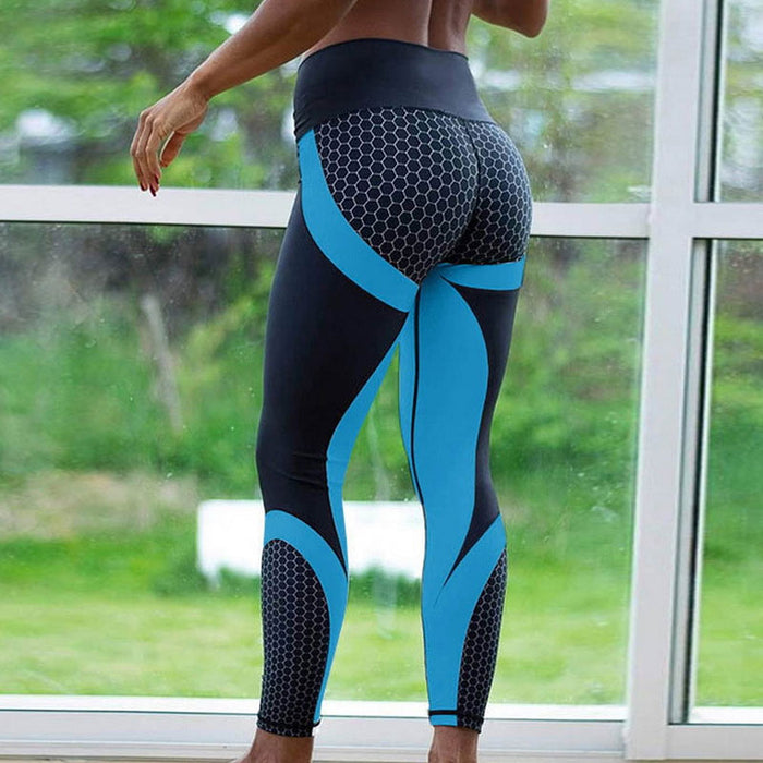 Full Honeycomb Print Brazilian Workout Leggings