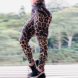 Full Leopard Print High Waist Brazilian Workout Leggings