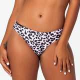 Leopard Print Low Rise Brazilian Cheeky Bottom