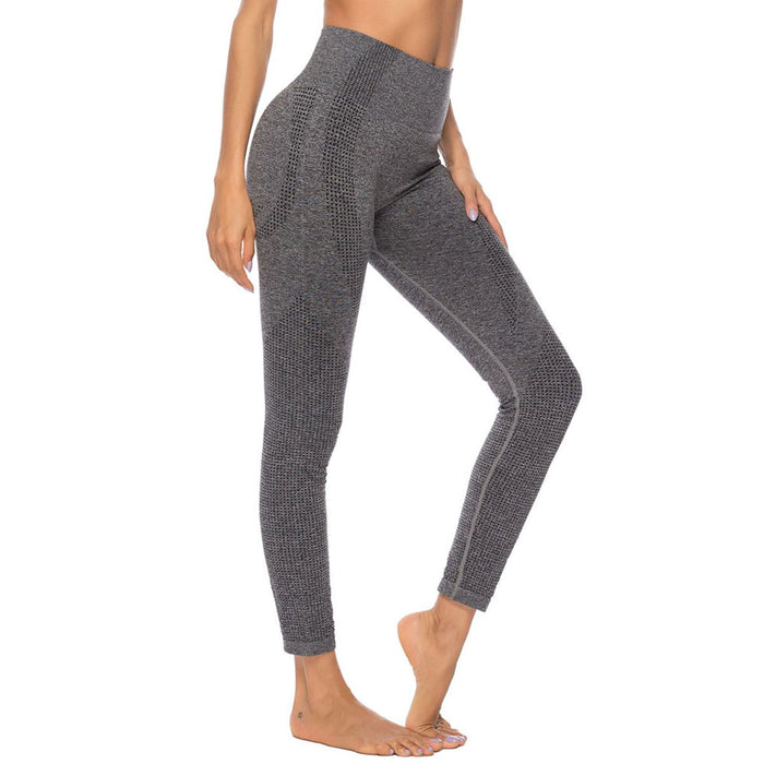 Spacedye Textured High Waist Seamless Brazilian Workout Leggings