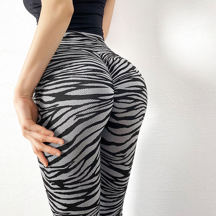 Wild Animal Print Scrunch Brazilian Workout Leggings