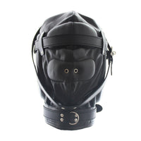 YiFeng Sensory Deprivation Hood Gimp Mask Blindfold Fetish Bondage Roleplay Submission 1