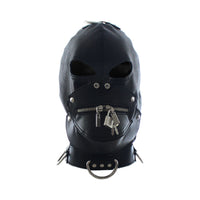 YiFeng Bondage Zipper Gimp Head Mask Restraint Hood Faux Leather Harness Fetish 3
