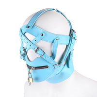 YiFeng Costume Party Leather Gimp Toy Head Harness Hood Mask Bondage Fetish Halloween 5