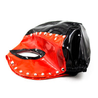 YiFeng Leather Studded GIMP Mask Hood Bondage Fetish Queen Roleplay Costume Party 15