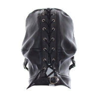 YiFeng Leather GIMP Full Mask Hood Open Eyes w/ Mouth Ball Gag Bondage Fetish Restraint 17