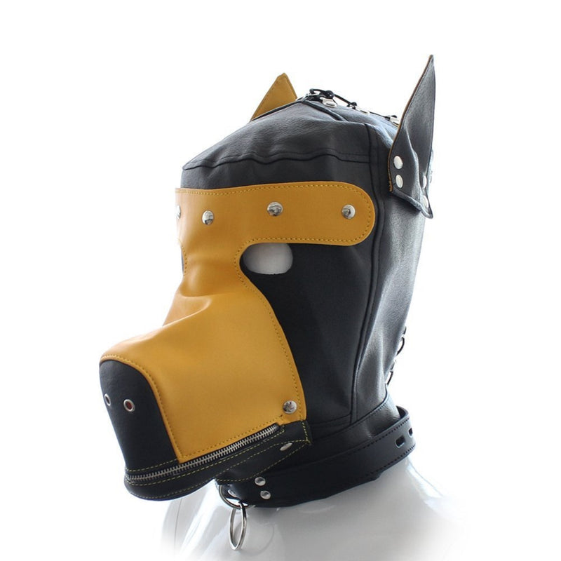YiFeng Costume Party Leather GIMP Full Mask DOG Puppy Hood Bondage Fetish Roleplay 20