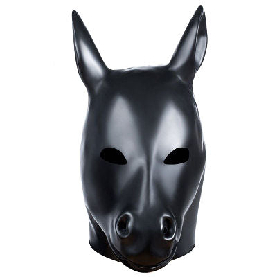 YiFeng Unisex Leather Monster Fetish Mask Sexy Head Bondage Hood Zipper Mask Black Erotic Lingerie Halloween Scary Costumes Sex Toy for Adults-Made of Natural rubber 30