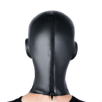 YiFeng Latex Rubber Fetish Hood Mask with with Zipper Loli Disguise Black-3D Female Heavy Rubber Gum Mask 31