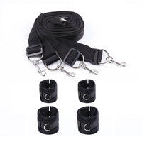 YiFeng Under Bed Bondage Restraints System Set Kit Straps w/ Hand Cuffs Ankle Cuffs Slave Fetish Adults Sex Toys 4
