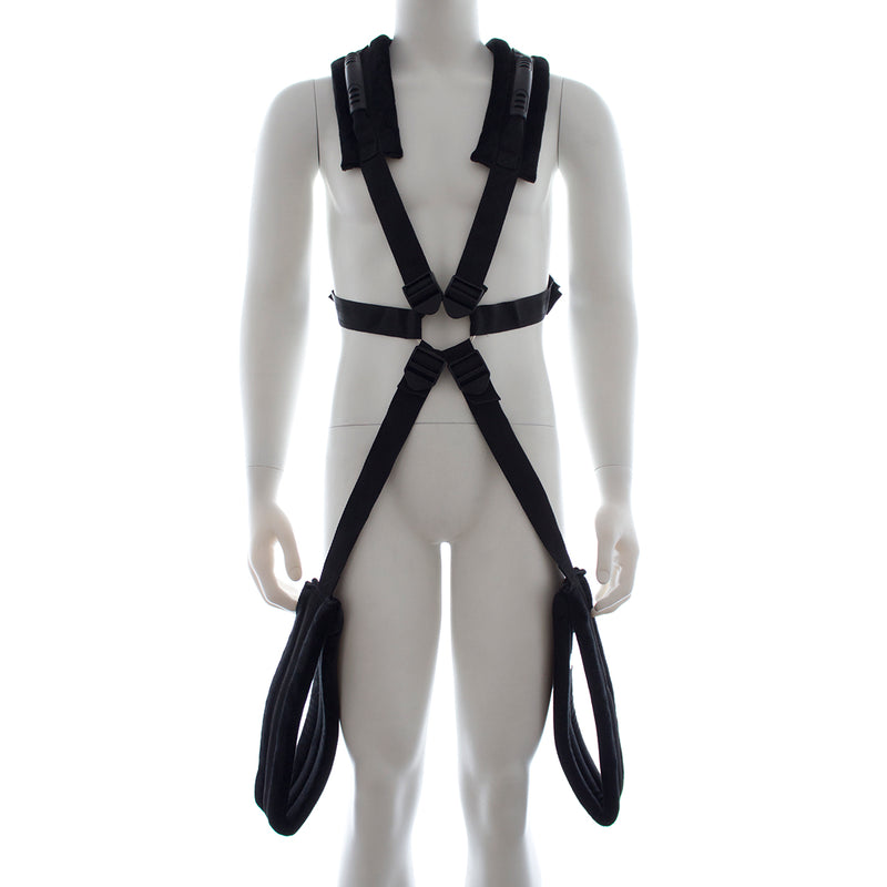YiFeng Swing Strap For Couple Love Hanging Bondage Rope w/ Thigh Cuffs Fetish Adult Sex Toys 16
