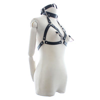 YiFeng Nipple Breast Clamp Clip Neck Collar Mouth Gag Body Harness Strap Bondage Restraint Fetish Adults Sex Toys 18