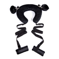 YiFeng Soft Pillow Neck Collar w/ 4 Way Handcuffs Ankle Cuffs Strap Bondage Restraint Fetish 19