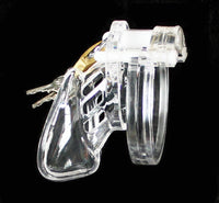 YiFeng Clear Male Chastity Device Belt W/ Plastic Lock & Locking Number Tags Gay 2.55""
